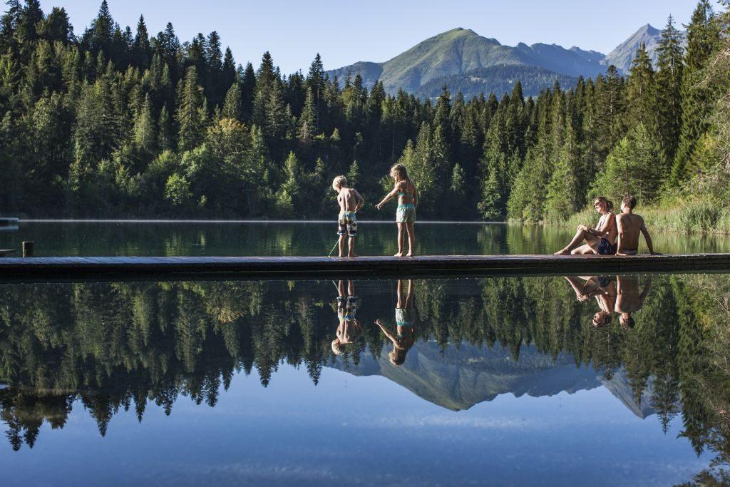 Lake Cresta flims switerland panoramic view water adventure - 1024 x 683