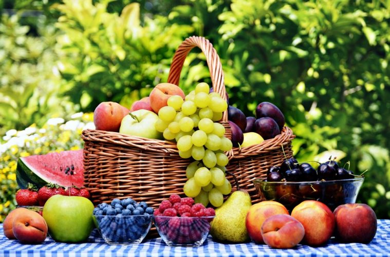 Fruit basket as an example of how to eat more sustainably