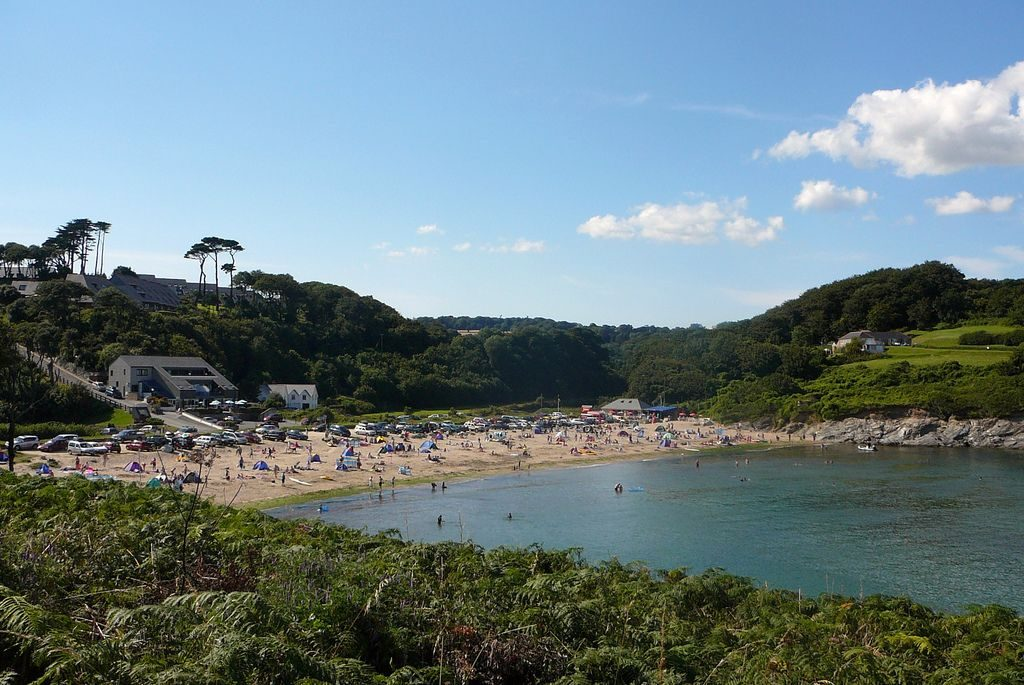 Maenporth Beach cornwall