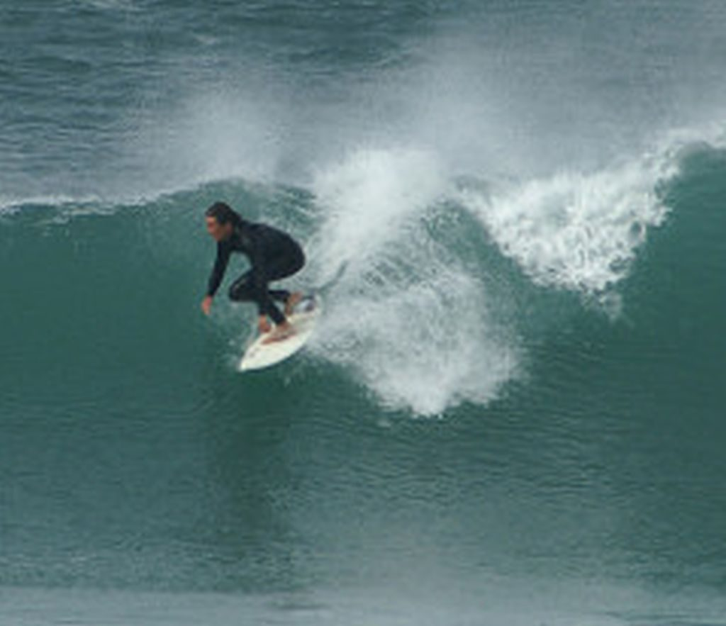 surfing at st ives cornwall