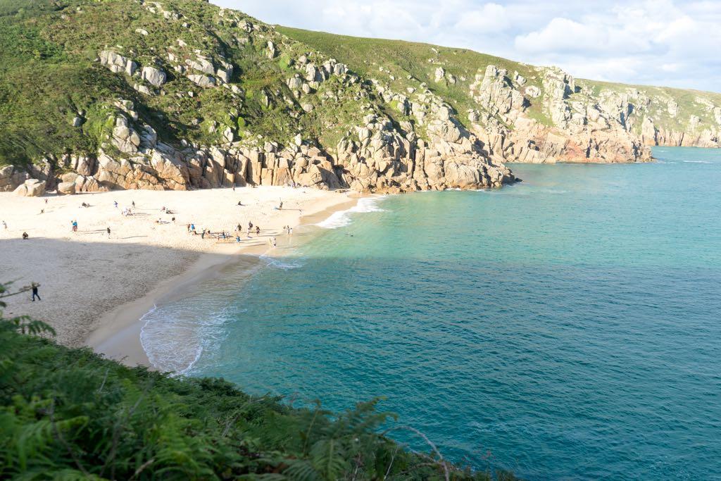Porthcurno Beach, Cornwall, England, United Kingdom