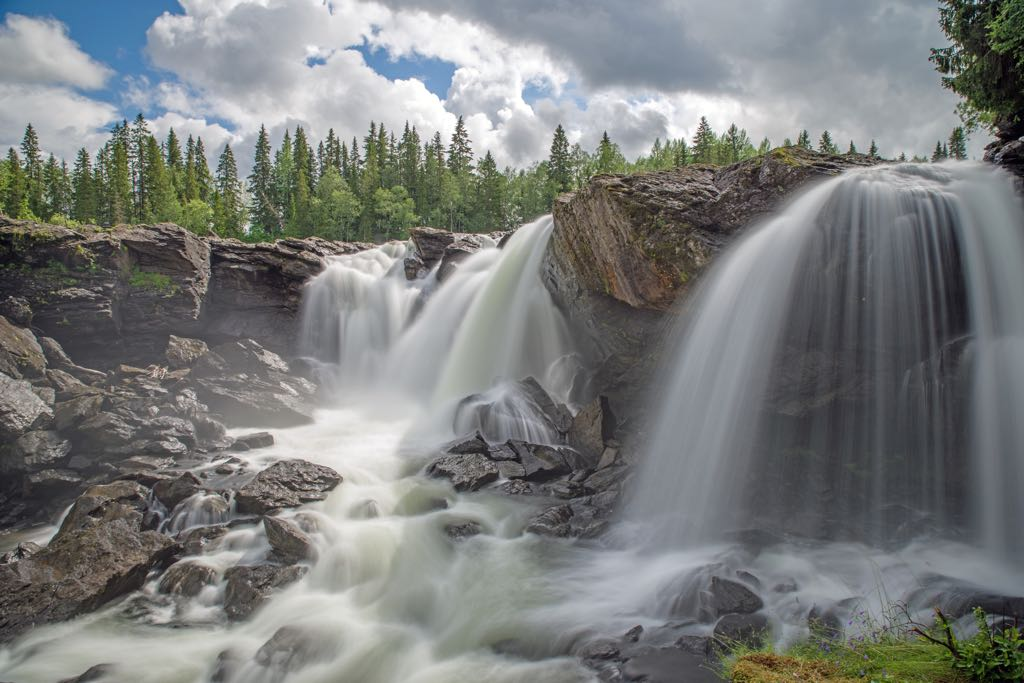 Njupeskär waterfall, Fulufjället National Park, Sweden
