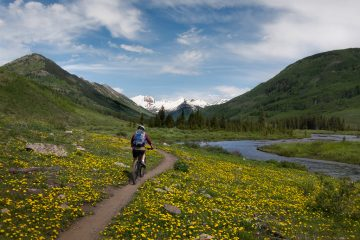 Mountain biking outside Crested Butte Cycling in the southern united states