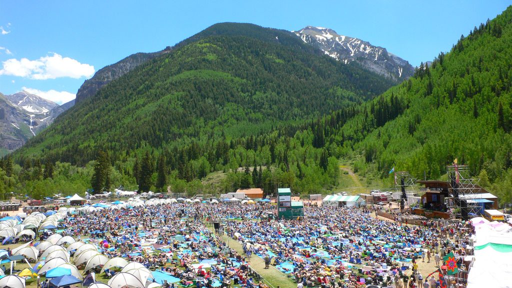 Telluride Bluegrass Festival outdoors