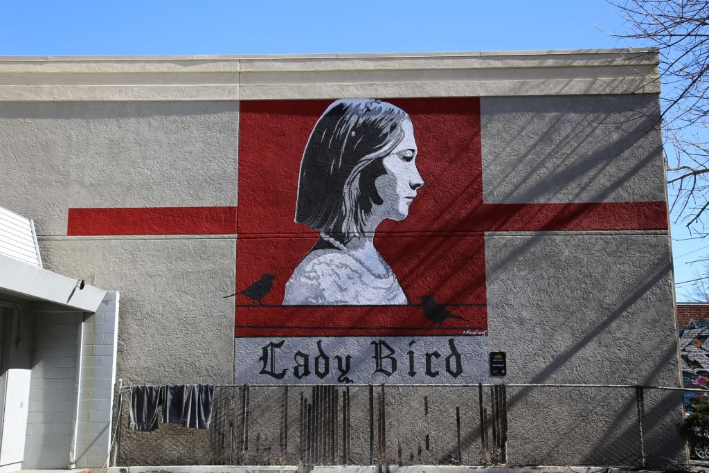 sacramento Street Mural - Lady Bird Film (set and shot in Sacramento)