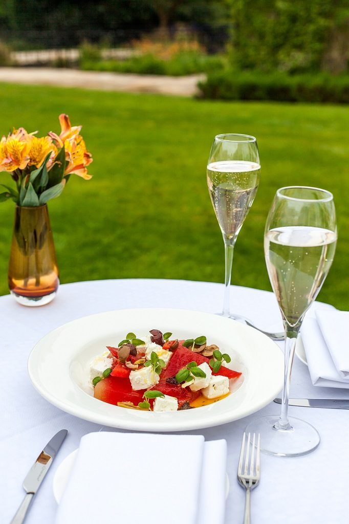 Watermelon and feta Salad at Sopwell House by Executive Head Chef Gopi Chandran