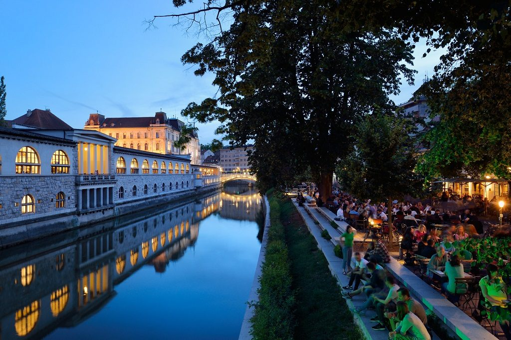 ljubljana bars by the river slovenia