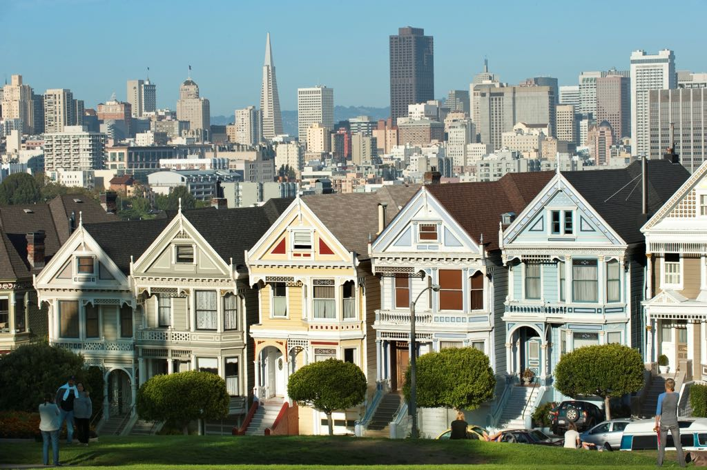 Painted Ladies, Alamo Square, San Francisco Bay Area, United States of America