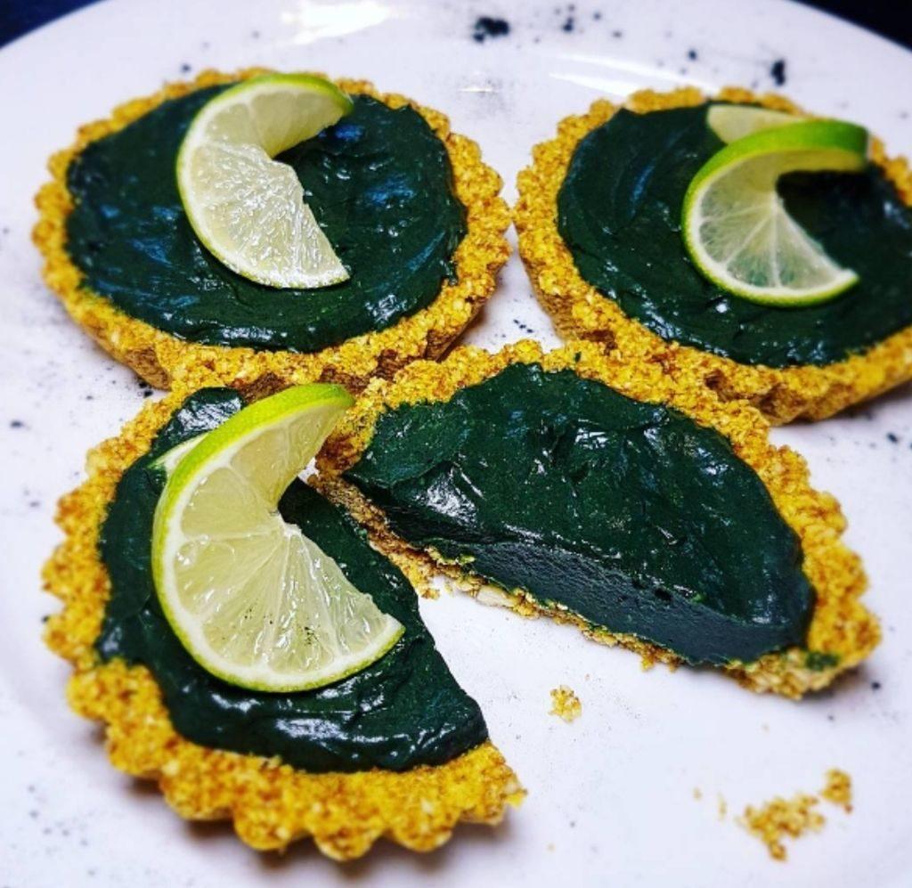 vegan tarts recipe - lime chilli turmeric