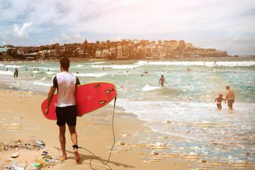 Bondi Beach australia how is Australia tackling its littering problem