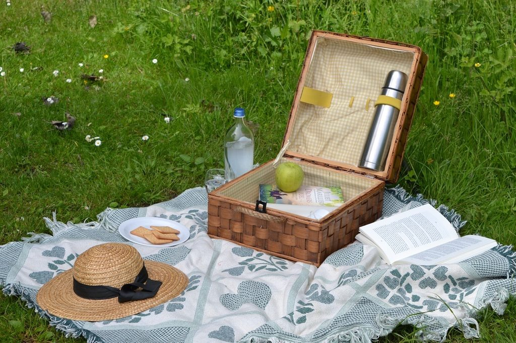 picnic basket outdoors