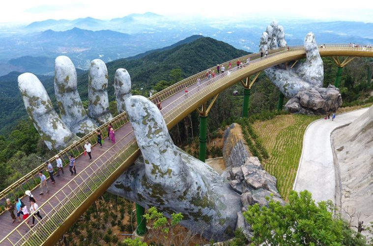 vietnam golden bridge hands of god world's 100 greatest places list 2018