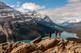 Peyto Lake Canada Rockies hiking