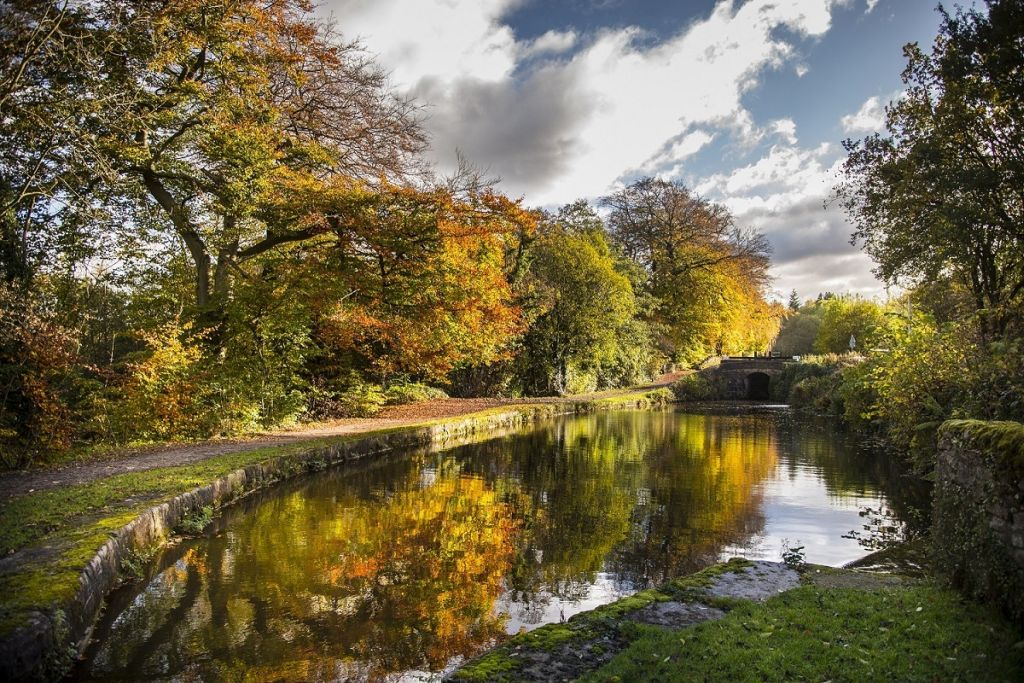 UK Autumn Colours - Peak Forest Canal cared for by the Canal & River Trust - 1024 x 683