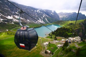 Titlis Cable Car switzerland aerial views