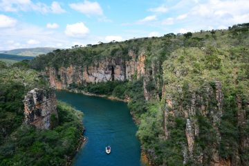 Furnas' canyons in the city of Capitolio in Minas Gerais, Brazil