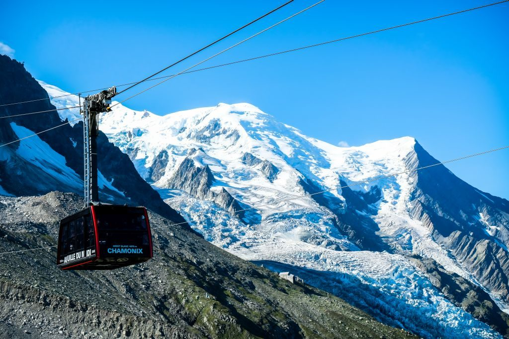 Chamonix french alps cable car