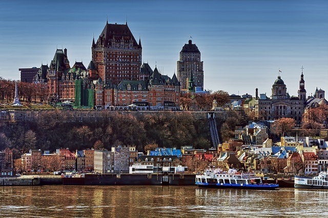 Quebec City winter outdoors