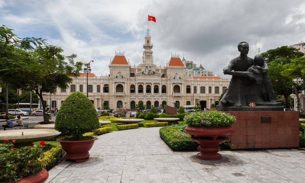 Reunification Palace in Ho Chin Mihn City in Vietnam, Southeast Asia