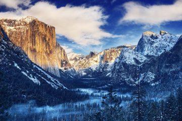Winter Morning Sunrise Tunnel View Yosemite Valley