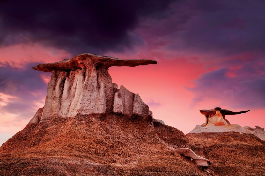 Bisti De Na Zin-Wilderness, Navajo Nation, New-Mexico