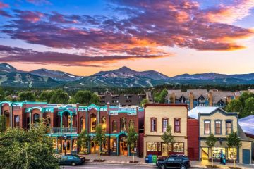 Town at Sunset in Breckenridge, Colorado trip