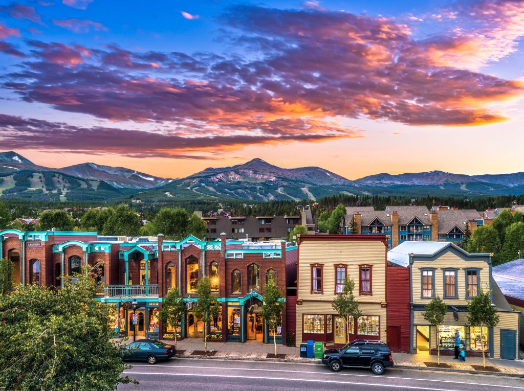 Town at Sunset in Breckenridge, Colorado
