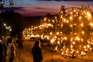 National Forest UK Andrew-Allcock Fire Garden by Pa Boom at Timber Festival