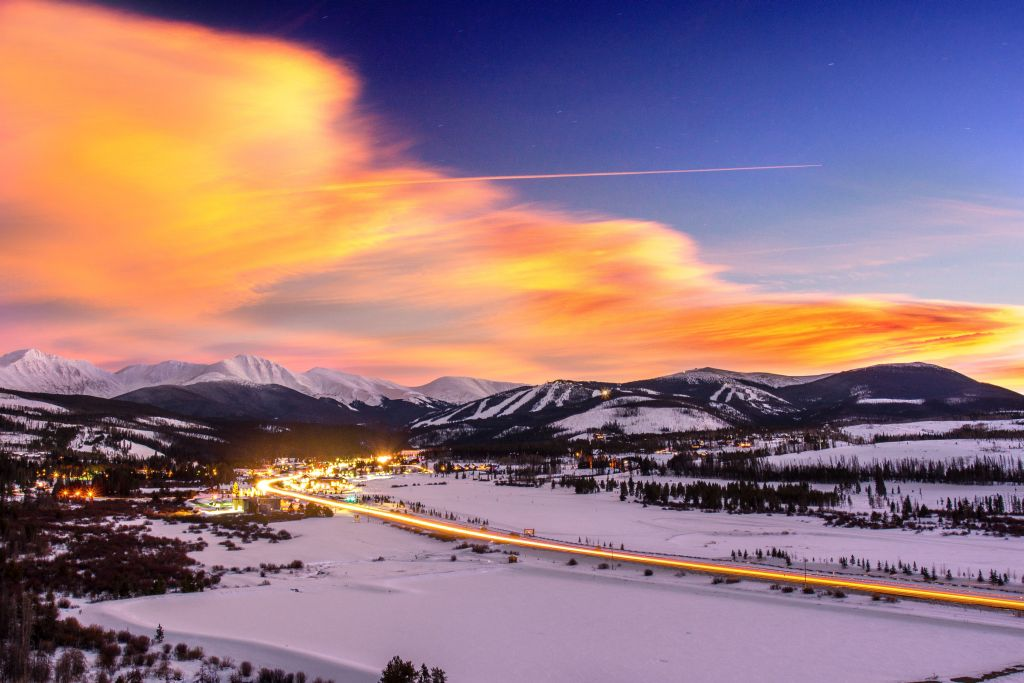 Winter Park resort Sunset colorado