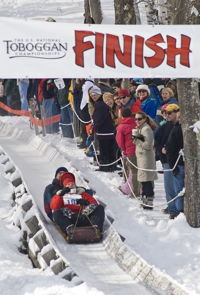 maine adventure tobaggoning Photo Maine Office of Tourism - Camden NatToboggan