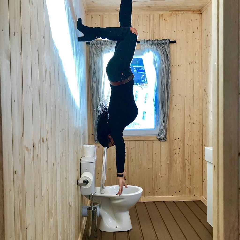 Inside Upside Down House 2 toilet uk