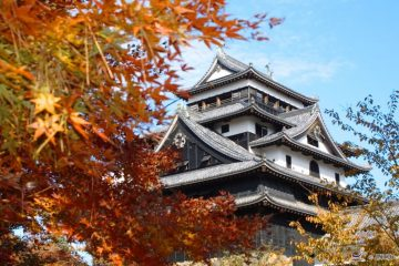 Matsue Castle. Shimane Japan autumn