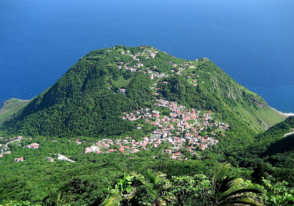 View from Mt_Scenery, Saba. caribbean