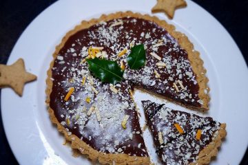 vegan christmas tart