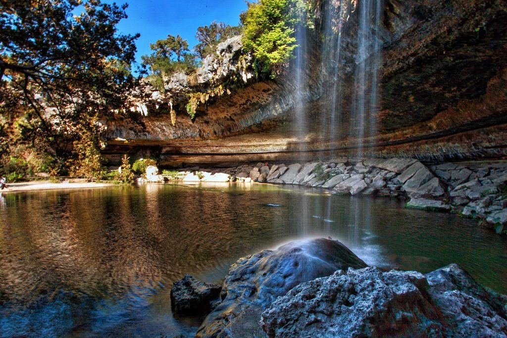 Hamilton Pool, Texas hidden waterfalls
