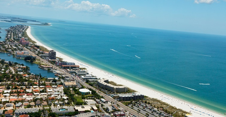 St. Pete Beach Aerial florida