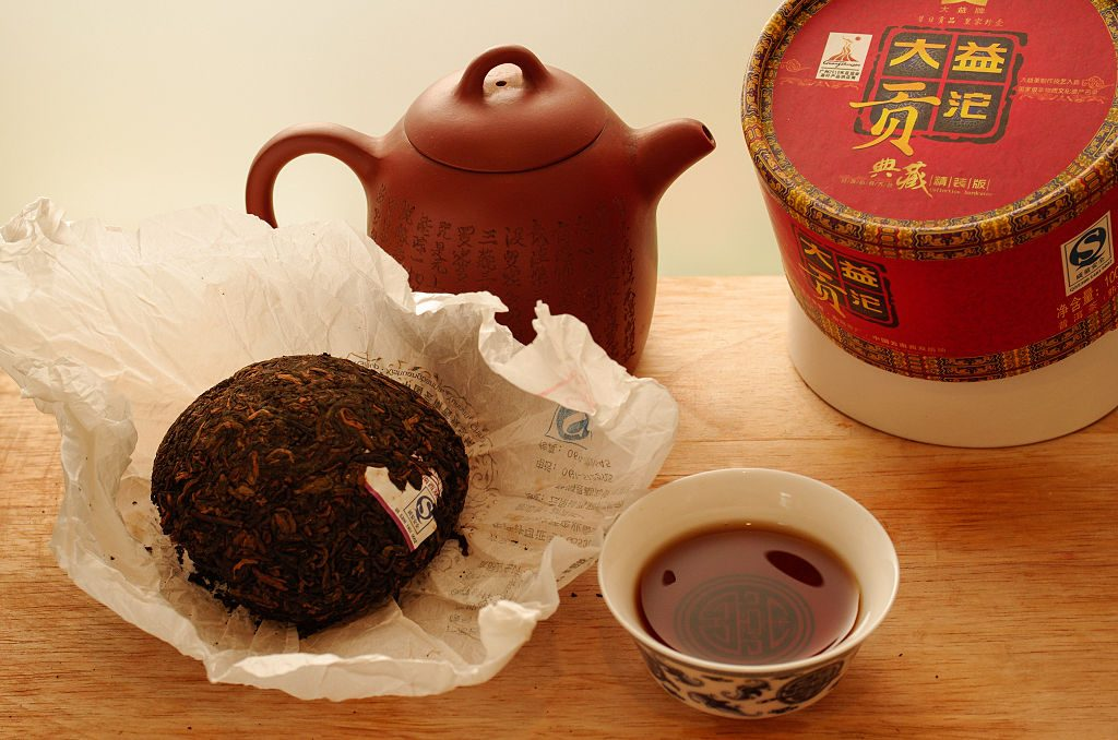 Pu-erh tea and tea pot