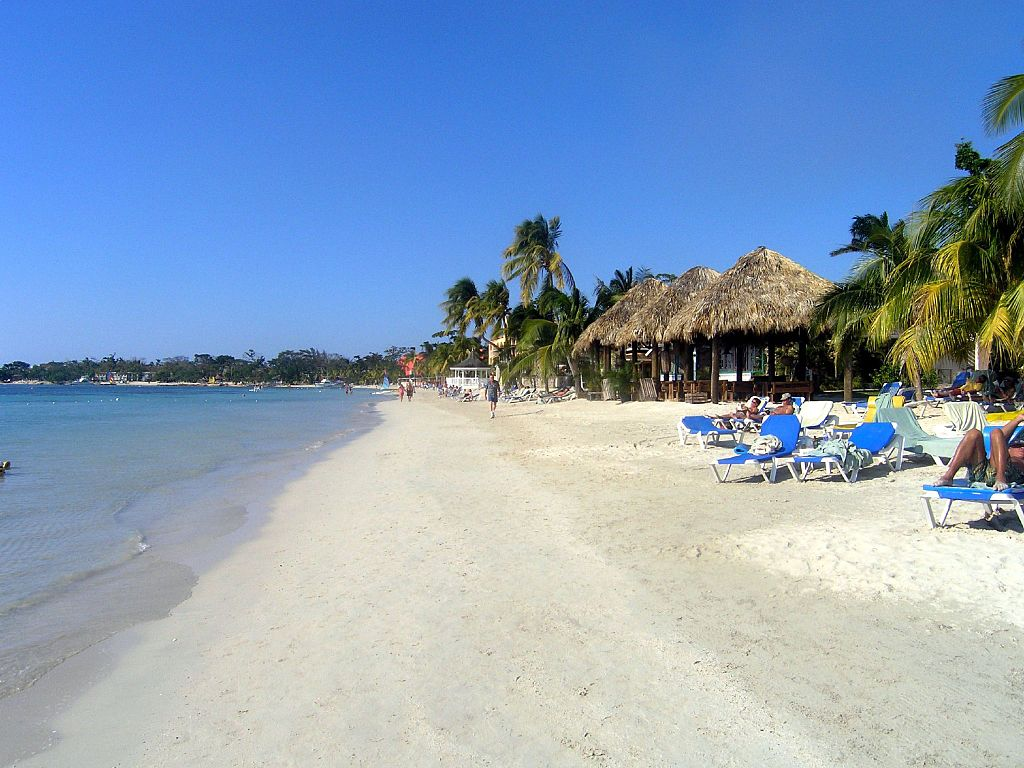A view of the beach at Sandals Negril Jamaica