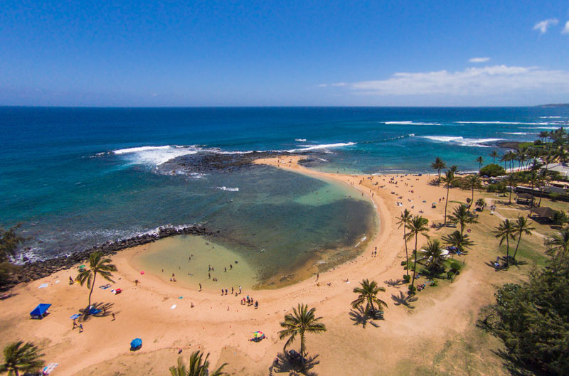 poipu-beach-aerial hawaii
