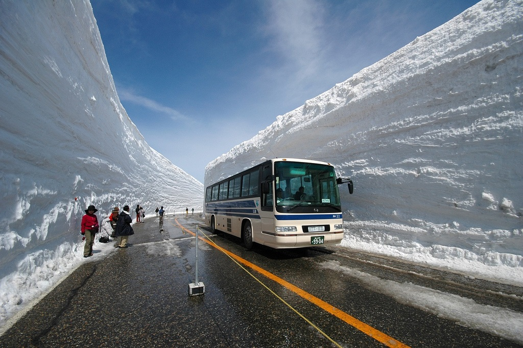 Tatayama snow wall, Murudo, Japan