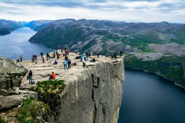hiking pulpit rock norway spring adventure travel