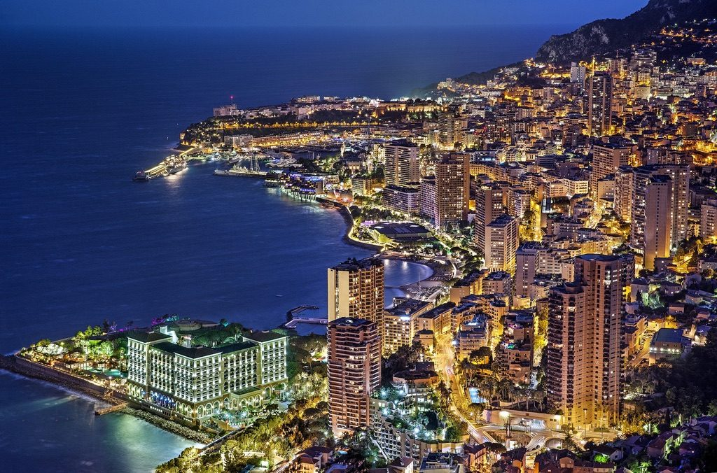 Monaco at night