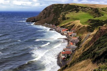 Beautiful view of Scotland Crovie best solo travel destinations
