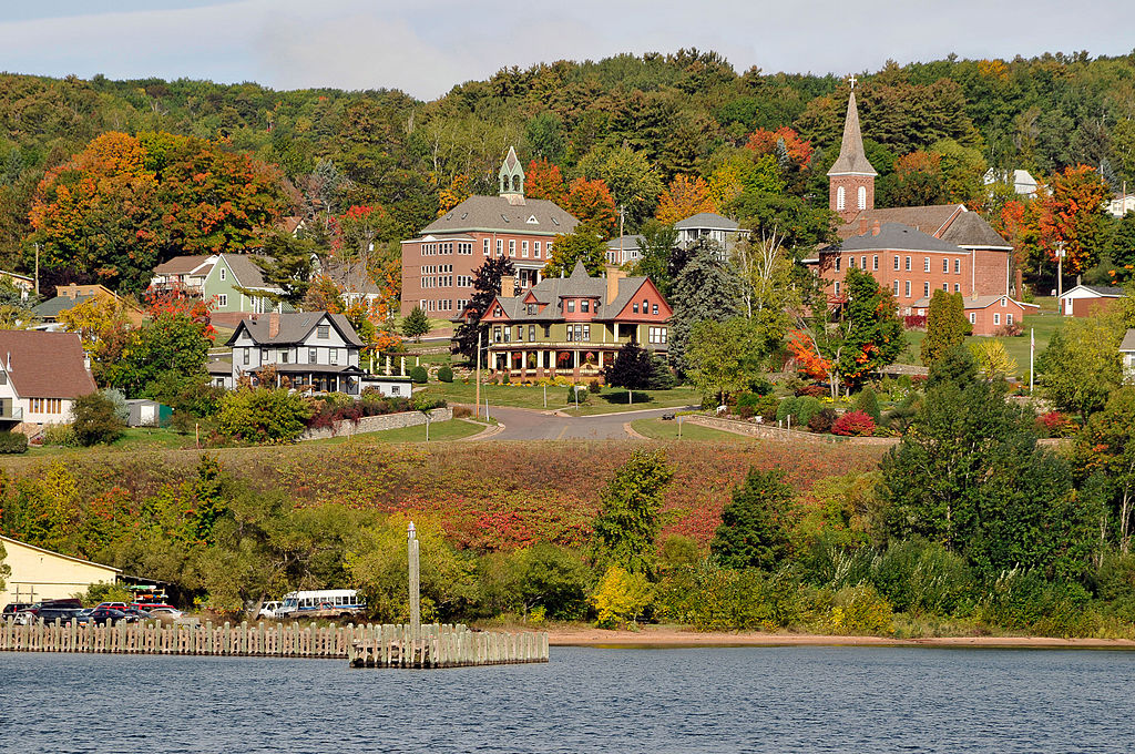 Color and beautiful image of Bayfield, Wisconsin