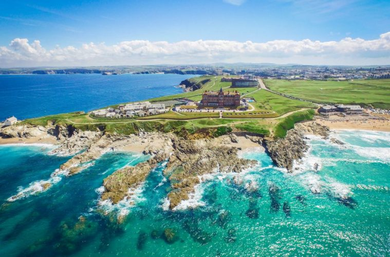The Headland Hotel overlooking Fistral Beach in Newquay hotels in Cornwall best countries to visit in Europe