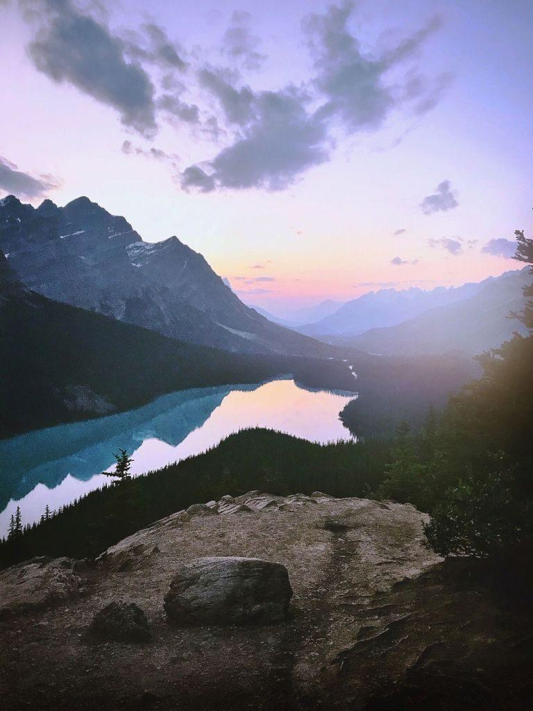 Peyto Lake, Alberta sunset canada