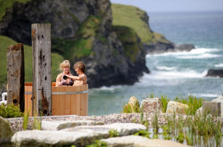 Sea view hot tub The scarlet cornwall hotel