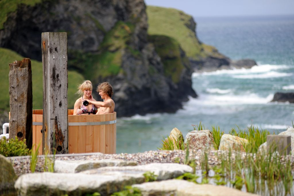 Sea view hot tub 1the scarlet cornwall