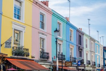 Street of colourful houses home improvement Dream House On A Budget