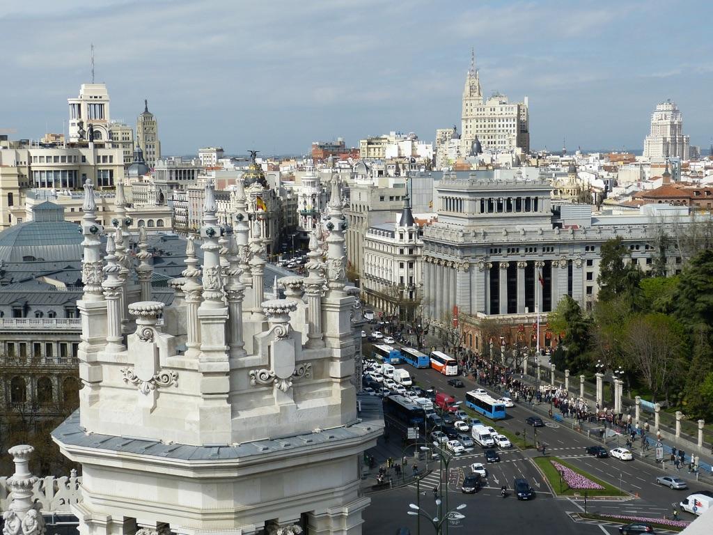 Beautiful shot of Madrid, Spain Buildings
